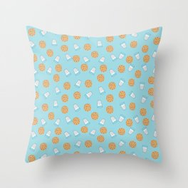 Cookies & milk Throw Pillow