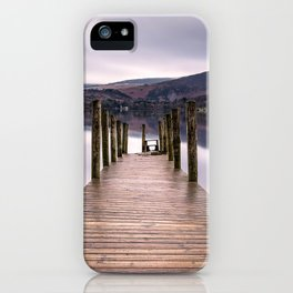 Lake View with Wooden Pier iPhone Case