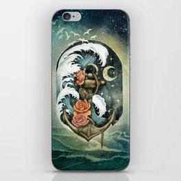 Navigate waves and stars iPhone Skin