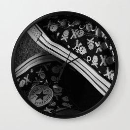 All Star and Skulls Wall Clock