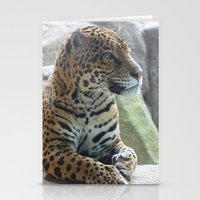 jaguar Stationery Cards featuring Jaguar by NaturallyJess