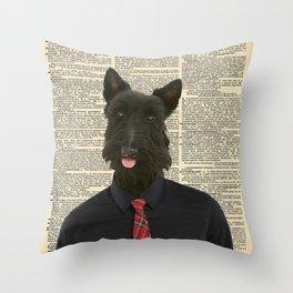 Sir Scottie Throw Pillow