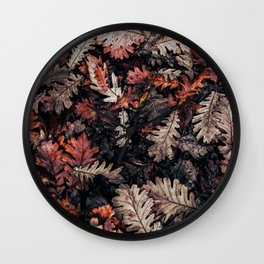 Autumn to winter dry leaves Wall Clock