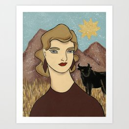 Taurus by Amanda Laurel Atkins Art Print
