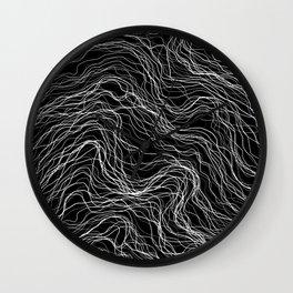 White Veins Wall Clock