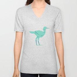 Origami Stork Unisex V-Neck