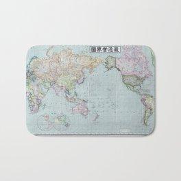 1914 Japanese World Map Bath Mat