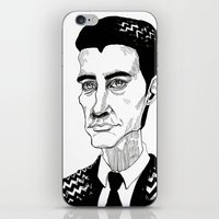 dale cooper iPhone & iPod Skins featuring Cooper by Simone Bellenoit : Art & Illustration