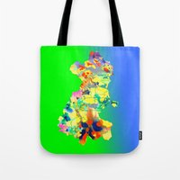 dublin Tote Bags featuring Dublin Water by Kramcox