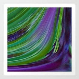 Purple Green Contemporary Abstract Art Print