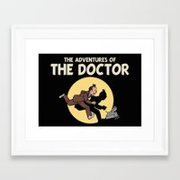 tintin Framed Art Prints featuring The Adventures Of The Doctor by Deborah Picher Illustrations