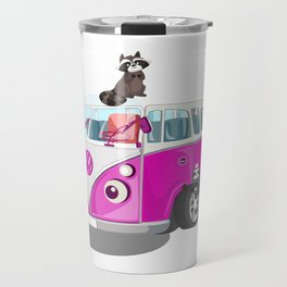 Cute pink bus Travel Mug