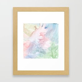 Pattern from colored water Framed Art Print