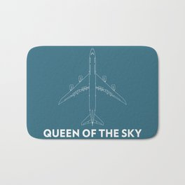 Boeing 747 8 Queen of the sky Bath Mat