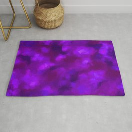 Deep Plum, Navy, & Bright Ultra Violet Rug