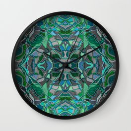 Abstract #8 - II - Stormy Seas Wall Clock