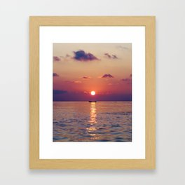 Calm Sunset (Color) Framed Art Print