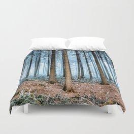 Snow Covered Forest Duvet Cover