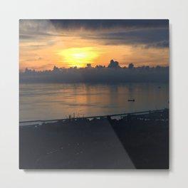 sunset on sea 2 Metal Print