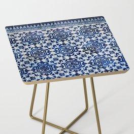 Cobalt Flourish Side Table