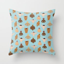 Meat-Heads Throw Pillow