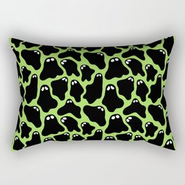 Ghosties (Green) Rectangular Pillow
