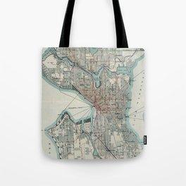 Vintage Map of Seattle Washington (1911) Tote Bag