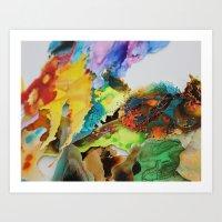 Surface Landscape Art Print
