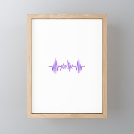 Womens Baby Heartbeat Pro Life Gift Print Anti Abortion Tee Framed Mini Art Print