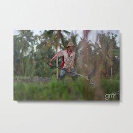 Farmer Life Metal Print