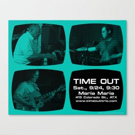 TIME OUT, MARIA MARIA (4, GREEN-BLUE) - AUSTIN, TX Canvas Print