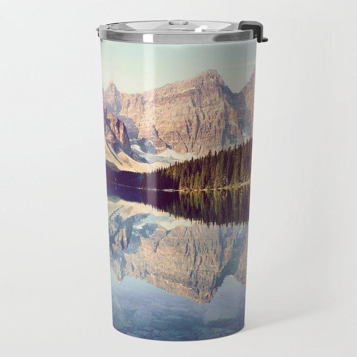 Moraine Lake Reflection Travel Mug