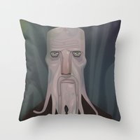 cthulhu Throw Pillows featuring cthulhu by Crooked Octopus