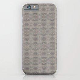 Elegant Gray Geometric Southwestern Pattern - Luxury Fabric - Corbin Henry iPhone Case