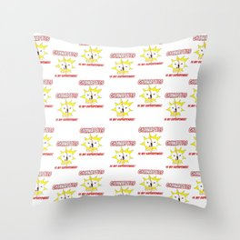 Gymnastics is my Superpower (Tiled Version) Throw Pillow