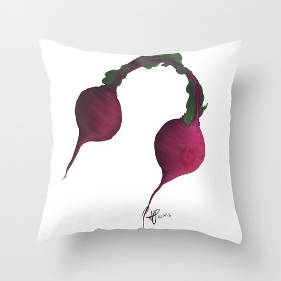 Beets by Me Throw Pillow