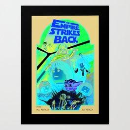 the empire strikes Lego Art Print