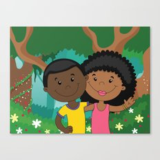 Love in the woods Canvas Print