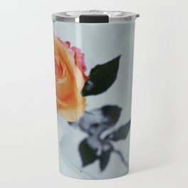 Rose in Snow Travel Mug