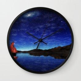 Beneath a jewelled sky Wall Clock