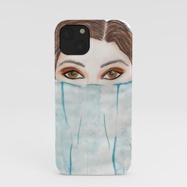 pencil and watercolour fashion art  iPhone Case