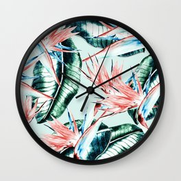 Pattern botanical Wall Clock