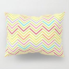 Colorful pink green red geometric zigzag chevron pattern Pillow Sham