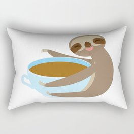 sloth & coffee 2 Rectangular Pillow
