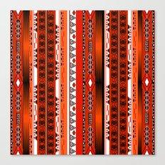 Ethnic stripes. Tribal pattern Indians. Canvas Print