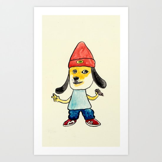 parappa the doge Art Print