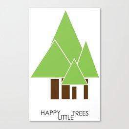 happy little trees Canvas Print