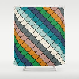 Colorful scales pattern I Shower Curtain