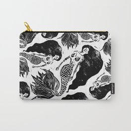 Mermaid Linocut Carry-All Pouch