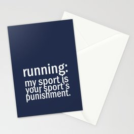 My Sport Is Your Sports Punishment. Stationery Cards